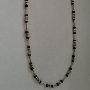 Sterling Silver 925 necklace with amethyst beads